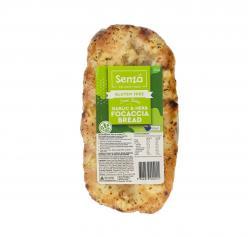 Senza-Gluten Free Garlic & Herb Focaccia 250gr Image