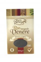 Riseria Merlano - INTEGRALE VENERE (Whole Black rice) 1kg Image