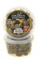 Olives - Green Chilli Garlic 200gr Image